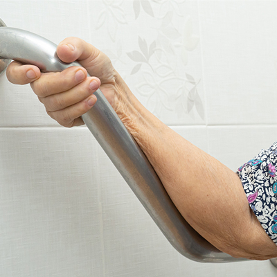Elderly Woman Hula Hooping